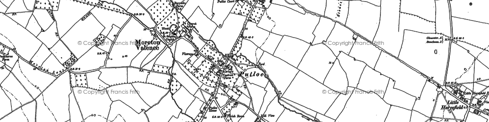 Old map of Parkend in 1880