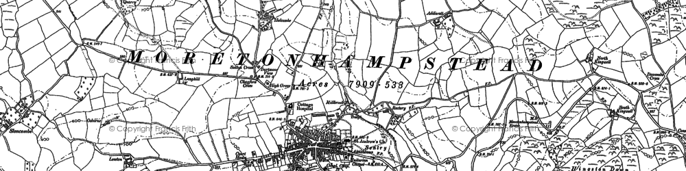 Old map of Willingstone in 1884