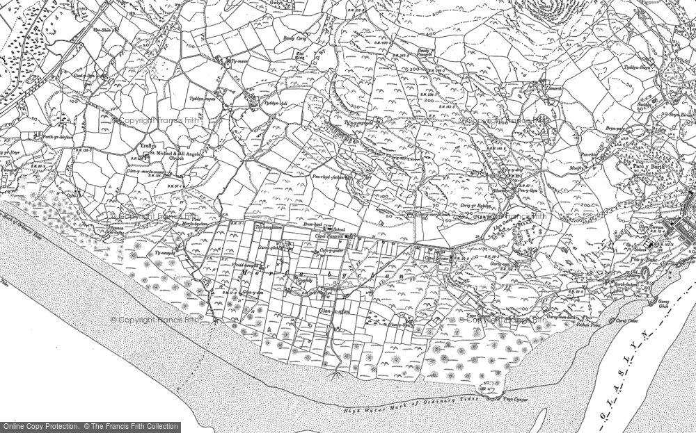 Old Map of Morfa Bychan, 1899 - 1900 in 1899