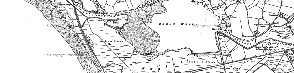 Old map of Aber Dysynni in 1900
