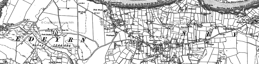 Old map of Porth Dinllaen in 1899