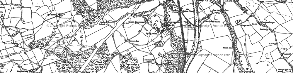Old map of Morganstown in 1897