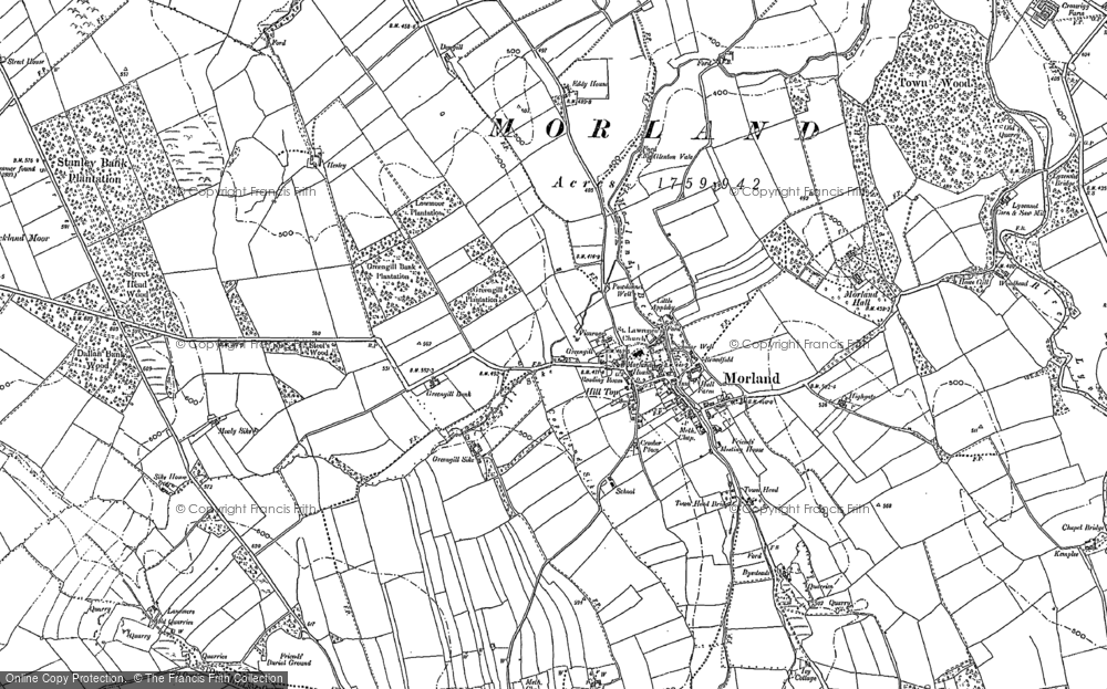 Old Map of Historic Map covering Akeygate in 1897