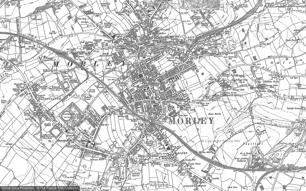 Map of Morley, 1847 - 1892