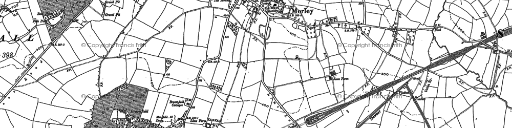Old map of Morley in 1879