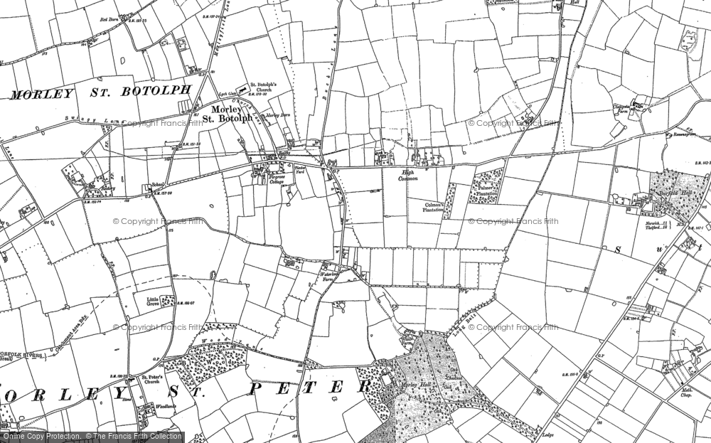 Old Maps of Morley St Botolph Francis Frith