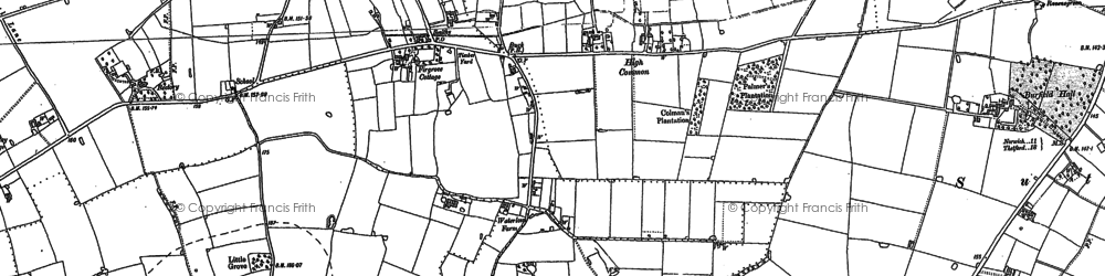 Old map of Wymondham College in 1882