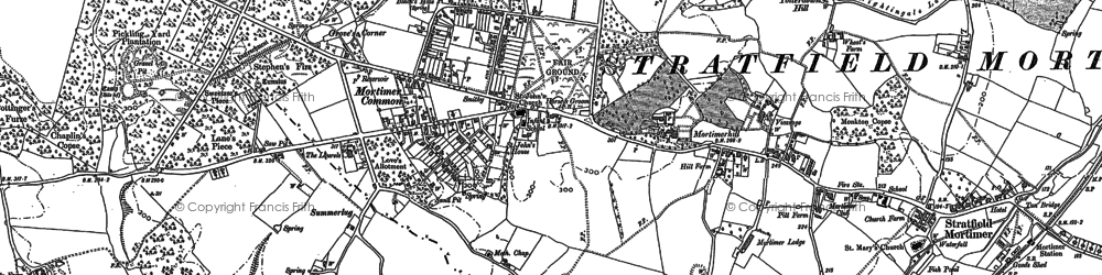 Old map of Mortimer in 1909