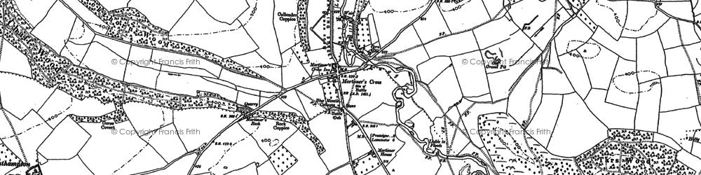 Old map of Mortimer's Cross in 1885