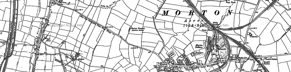 Old map of Morton in 1877