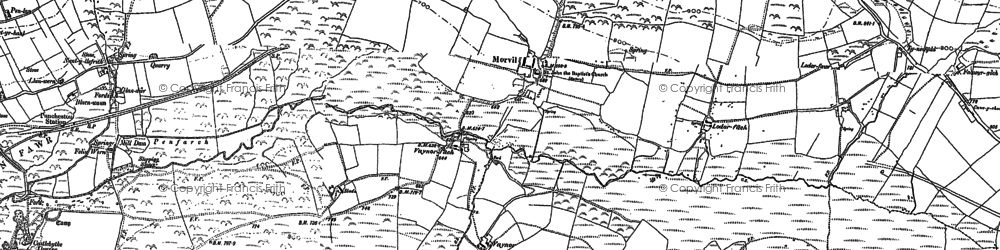 Old map of Banc Ty-canol in 1888