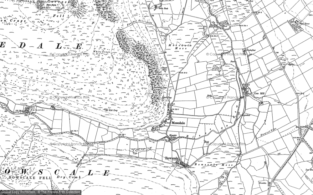 Old Map of Historic Map covering Bannest Hill in 1899