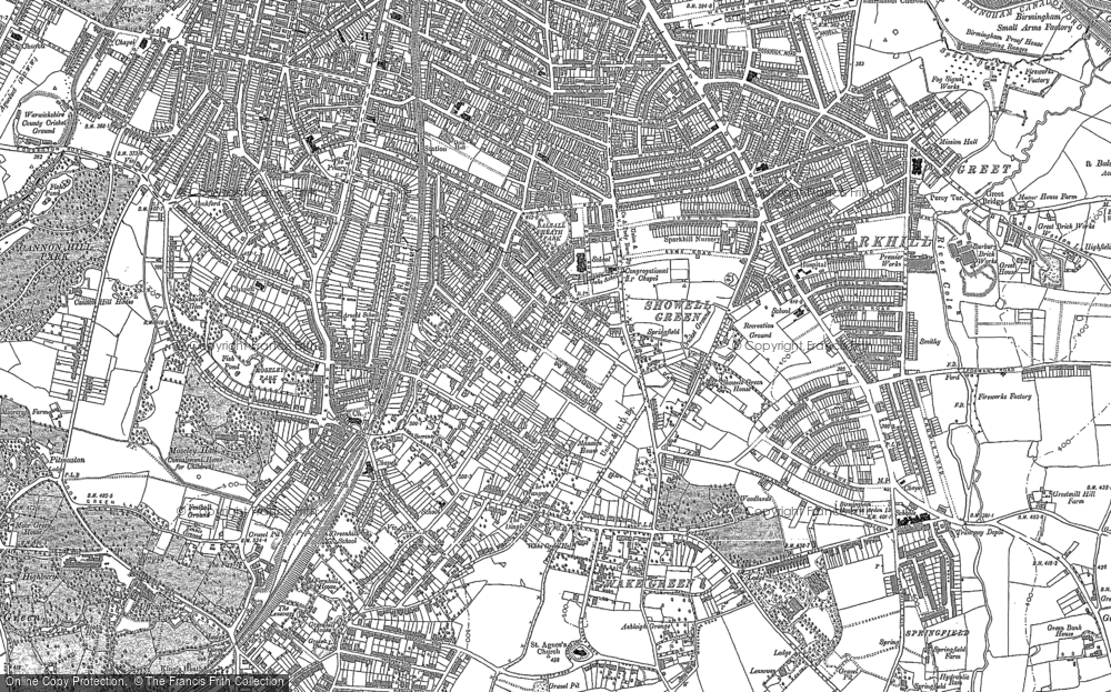 Old Map of Moseley, 1903 in 1903