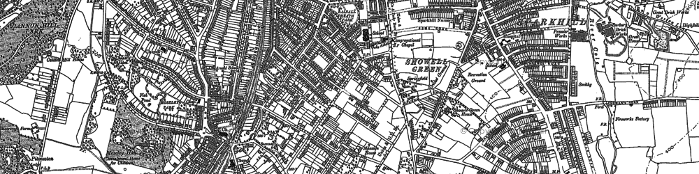 Old map of Moseley in 1903