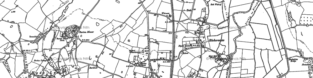 Old map of Ashflats in 1882