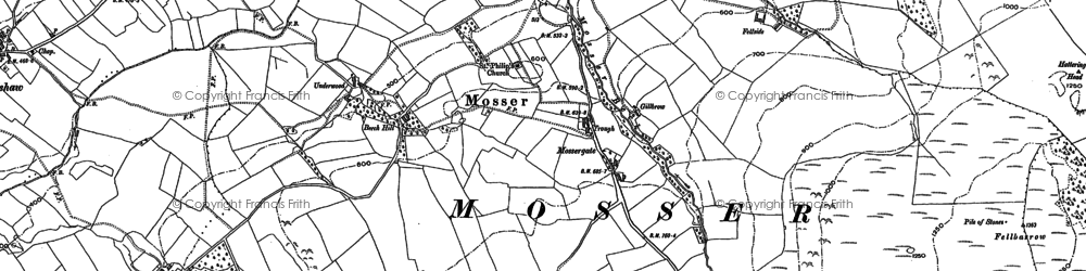 Old map of Akebank Mill in 1898