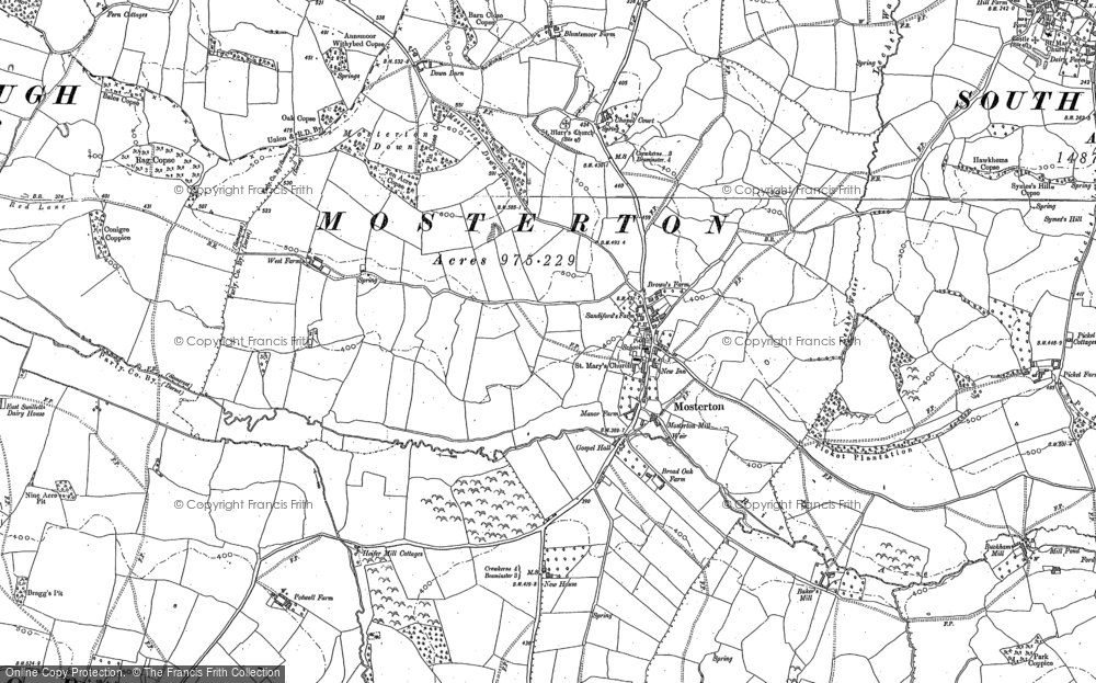Old Map of Historic Map covering Whetley Cross in 1886