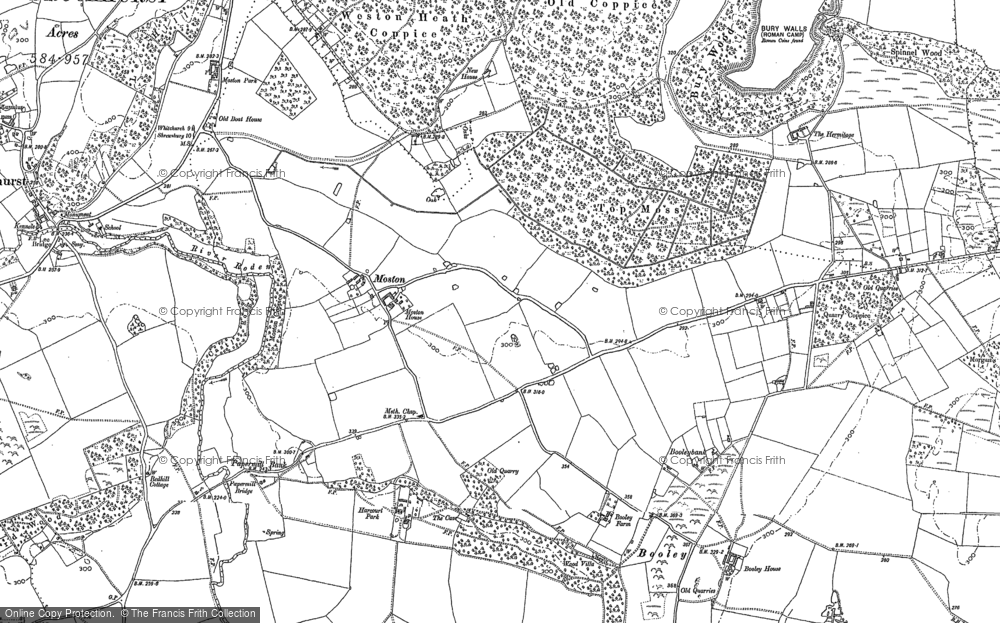 Old Map of Moston, 1880 in 1880