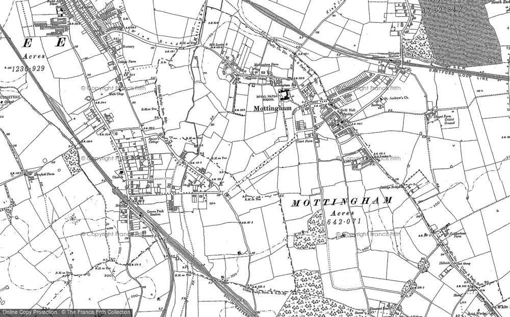 Map of Mottingham, 1895
