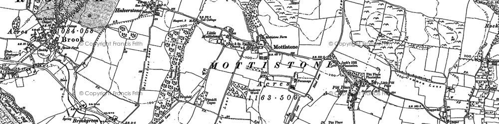 Old map of Westover Down in 1907