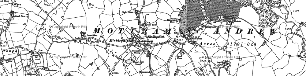 Old map of Legh Hall in 1896