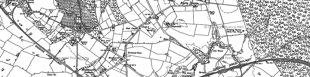 Old map of Ashton Brook in 1897