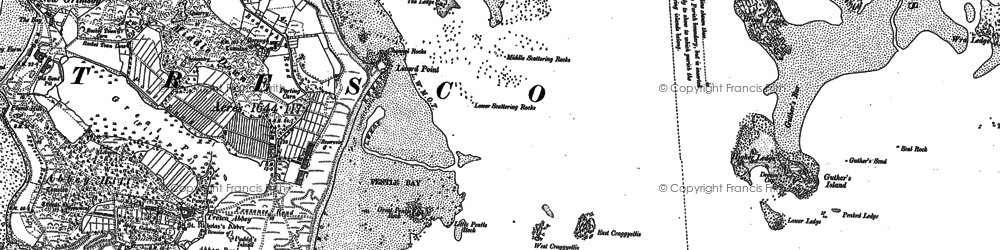 Old map of Eastern Isles in 1906