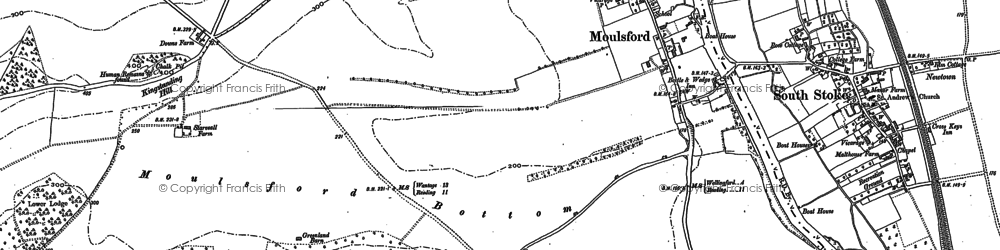 Old map of Moulsford in 1910