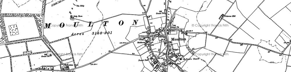 Old map of Ashley Heath Stud in 1883
