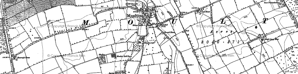Old map of Lingy Moor in 1892