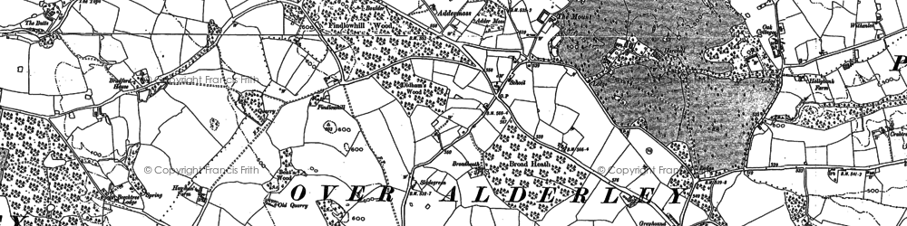 Old map of Wizard, The in 1896