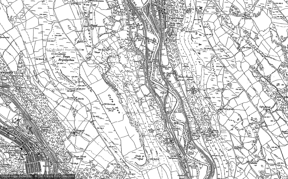 Old Map of Mount Pleasant, 1898 in 1898