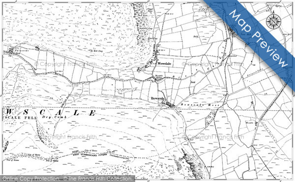 Old Map of Historic Map covering Baillieston in 1899
