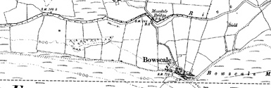Old map of Braidfauld centred on your home