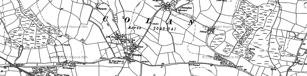 Old map of Mountjoy in 1880