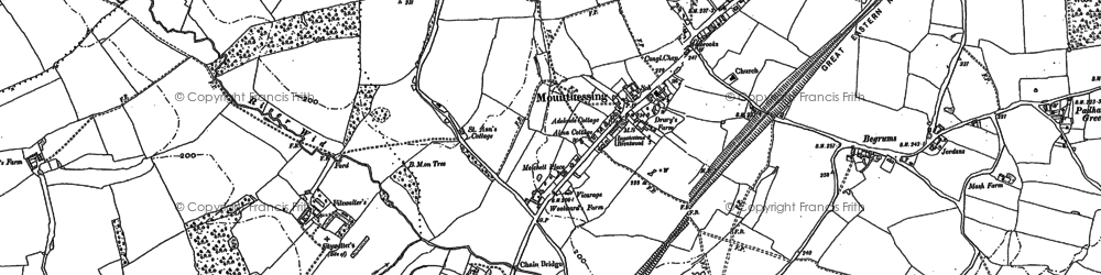 Old map of Woodlands Farmhouse in 1895
