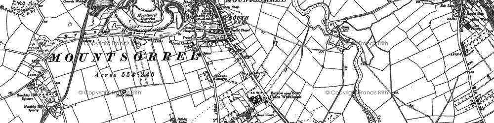Old map of Mountsorrel in 1883