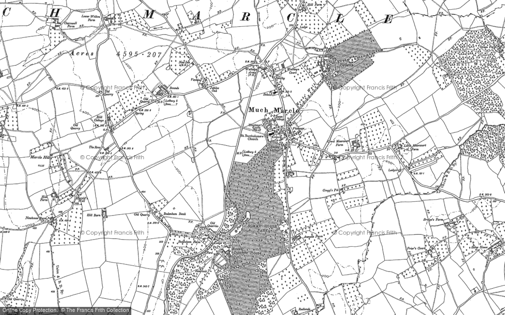 Old Map of Historic Map covering Awnells in 1903