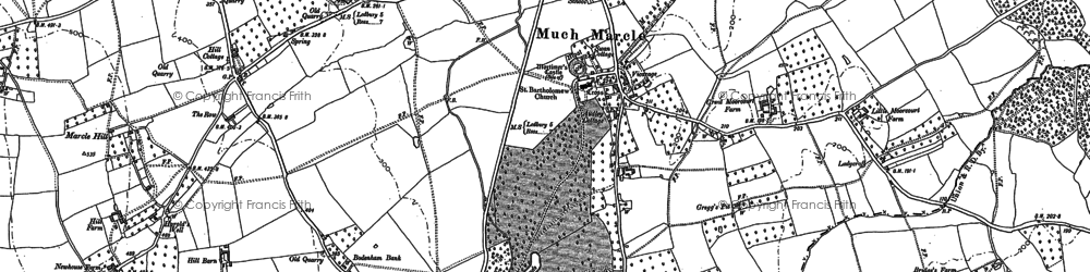 Old map of Awnells in 1903
