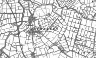 Old Map of Muchelney, 1885 - 1886