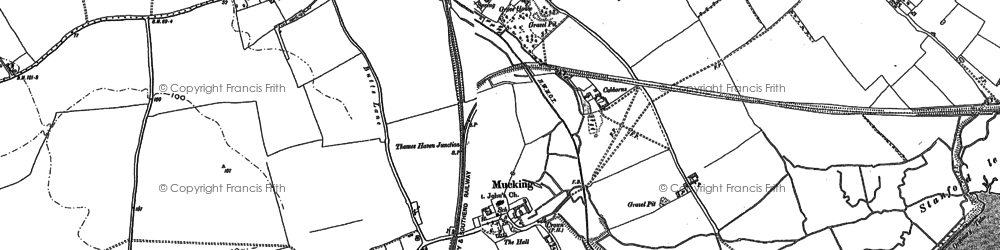 Old map of Mucking in 1895