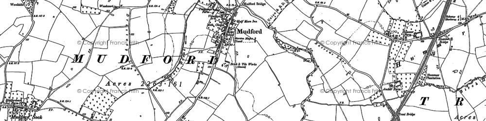 Old map of Mudford in 1901
