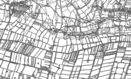 Old Map of Mudgley, 1884