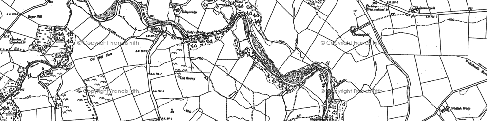 Old map of Lane Head in 1895