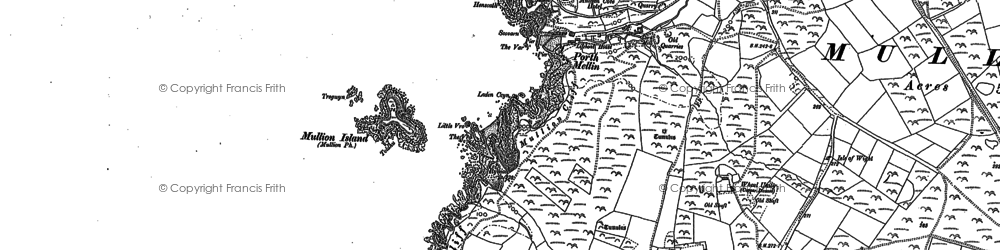 Old map of Polurrian Cove in 1906