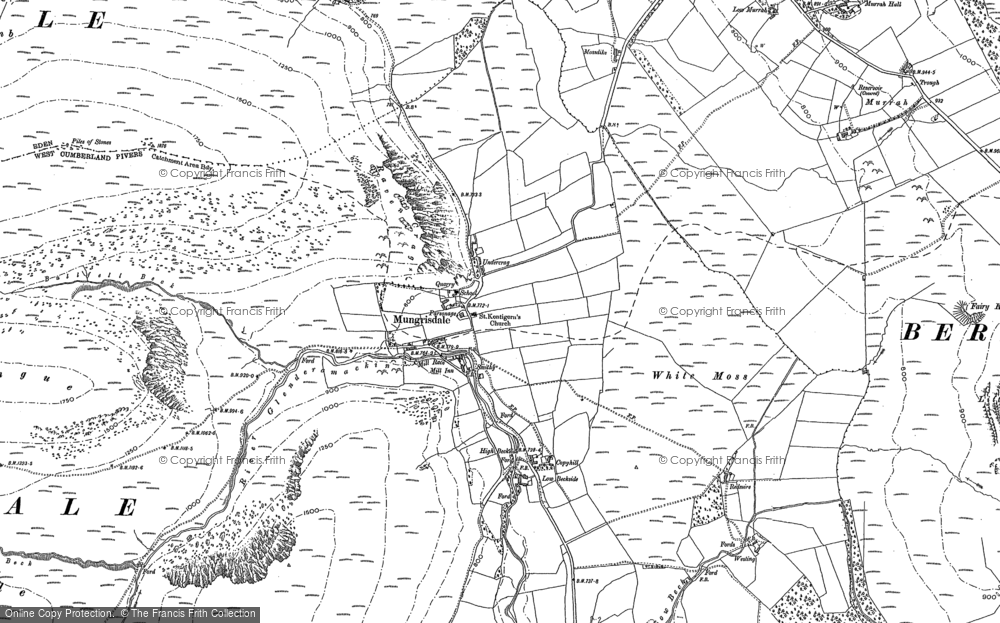 Old Map of Historic Map covering Bannerdale in 1899