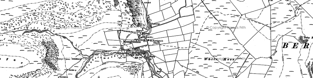 Old map of Bannerdale in 1899
