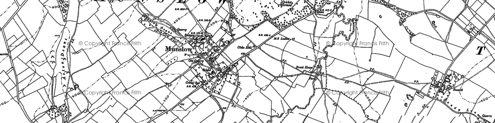 Old map of Aston Deans in 1883
