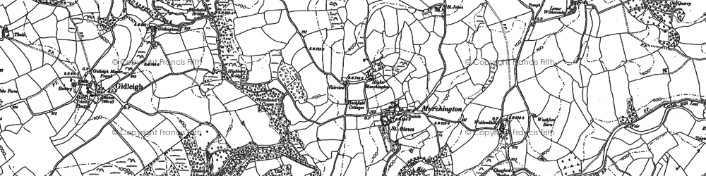 Old map of Murchington in 1884