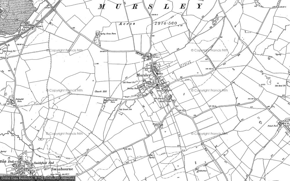 Old Map of Mursley, 1898 in 1898